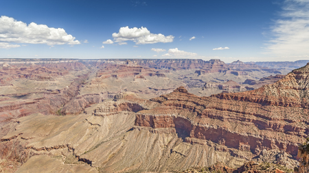 south rim: Panoramic picture of Grand Canyon National Park, South Rim, Arizona in USA.