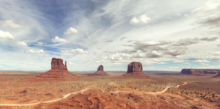 Panoramic view of the Monument Valley, Utah, USA.