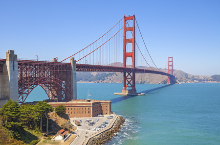 Golden Gate Bridge in San Francisco, USA.