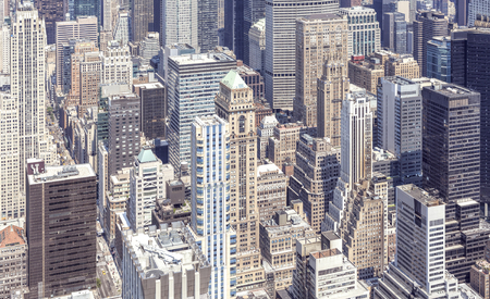 broadway tower: Aerial view of Manhattan, New York, USA.