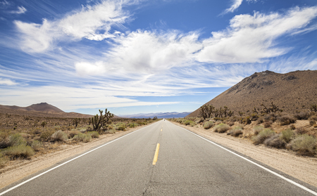 photo pictures: Endless country highway, Death Valley National Park, California, USA. Stock Photo