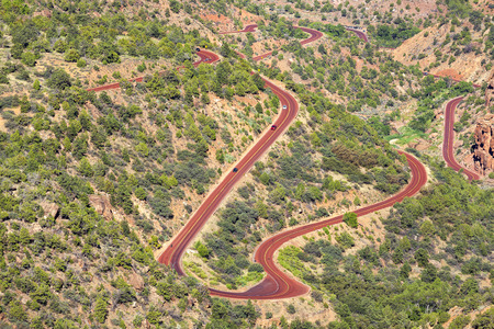curvy: Curvy road in Zion National Park, Utah, USA.
