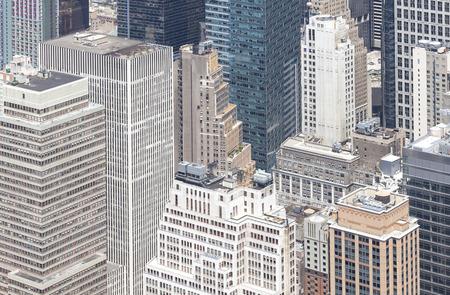 broadway tower: Aerial view of Manhattan, New York City, USA. Stock Photo