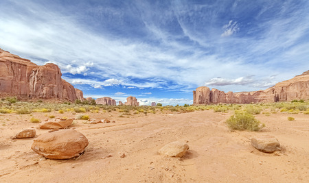 monument valley: Panoramic view of the Monument Valley, Utah, USA.