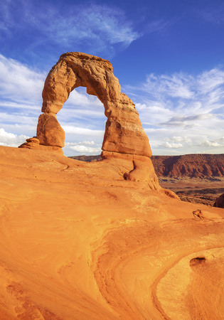 delicate: Delicate Arch at sunset, Utah, USA.