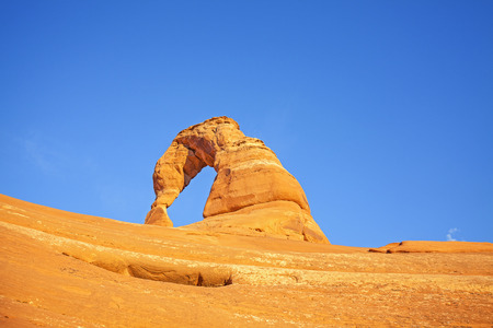 delicate arch: Delicate Arch at sunset, Utah, USA.