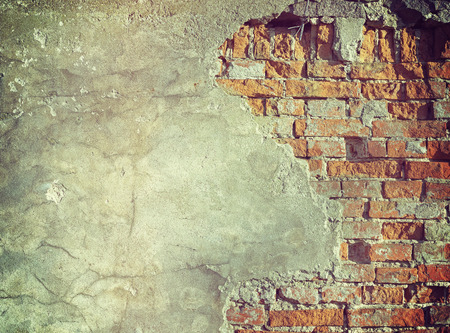 textured wall: Retro stylized grunge wall, background or texture. Stock Photo