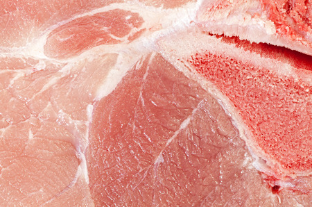 extreme close up: Extreme close up picture of pork leg fresh meat.