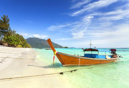 long tail: Long tail boat at a beautiful beach, Thailand.