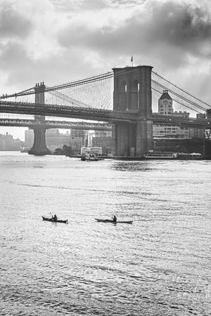 hudson river: Retro stylized photo of Hudson River in New York, USA. Stock Photo