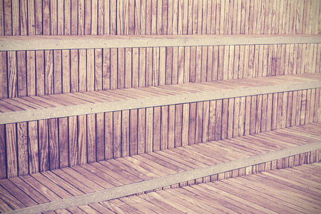 metal bars: Wooden planks with metal bars, background or texture. Stock Photo