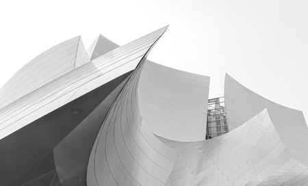 Los Angeles, USA - August 21, 2015:  Walt Disney Concert Hall designed by architect Frank Gehry, is home of the Los Angeles Philharmonic orchestra and the Los Angeles Master Chorale.