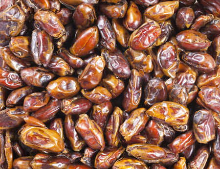 close up food: Close up picture of dried dates, food background.