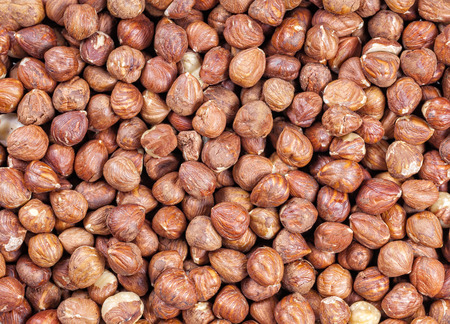 close up food: Close up picture of hazelnuts, food background.