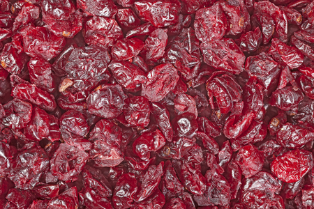 close up food: Close up picture of cut cranberries, food background.