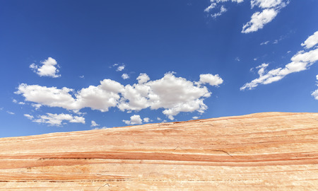 rock formation: Rock formation against blue sky, Valley of Fire, Nevada, USA.