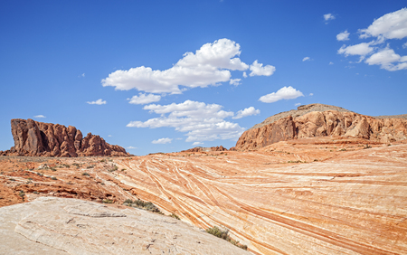 nevada: Valley of Fire wild landscape, Nevada, USA. Stock Photo