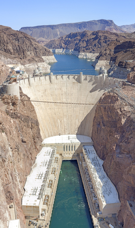 hoover dam: Hoover Dam high quality vertical panorama, USA.