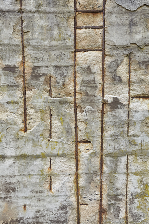 reinforced: Grunge background made of reinforced concrete wall.