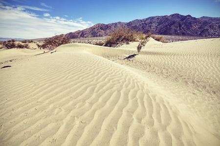 death valley: Vintage toned dune in the Death Valley, USA. Stock Photo