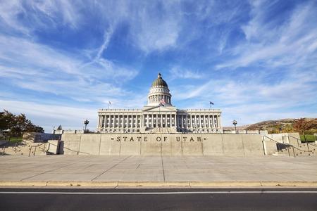 ソルト レイク シティ、アメリカ合衆国ユタ州の州議事堂 写真素材