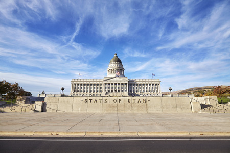 Utah state capitol building in Salt Lake City, USA.