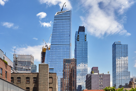 revitalization: Modern and old buildings in Manhattan, New York City, USA.