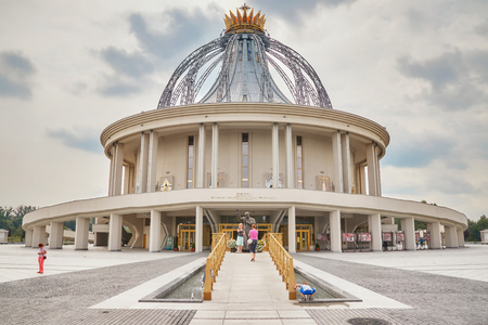 Torun, Poland - July 08, 2017: Newly built Shrine of Our Lady the Star of New Evangelization and St. John Paul II, initiated by Tadeusz Rydzyk Founder and Director of Radio Maryja Station.