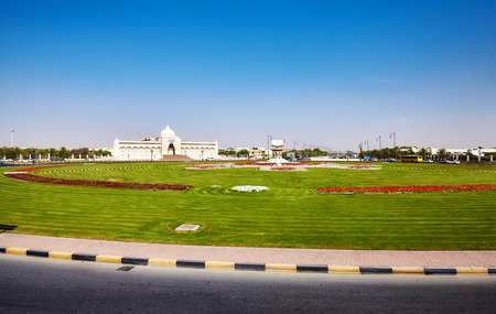 Cultural Square in Sharjah, United Arab Emirates. Stock Photo