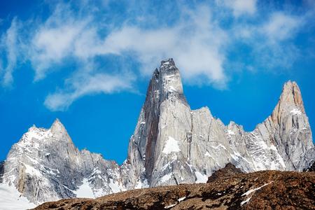 Fitz Roy Mountain Range, Los Glaciares National Park, Argentina. Фото со стока