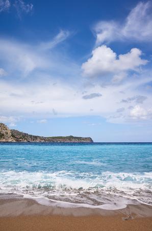 Scenic Coll Baix beach on Mallorca, Spain.
