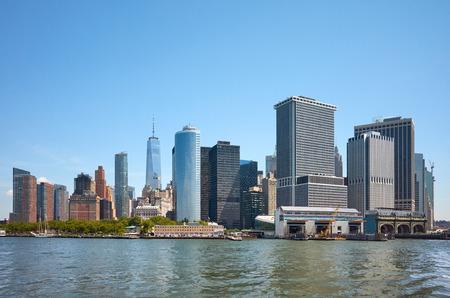 New York City skyline on a sunny summer day, USA. 스톡 콘텐츠