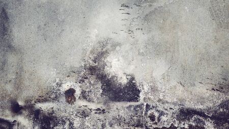 Picture of an old stained wall, color toned abstract background or texture.