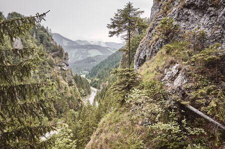 Retro toned picture of a Mala Fatra mountain scenery, Slovakia.