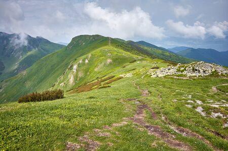Ridge leading to the Velky Krivan (1,709 m), highest mountain in the Lesser Fatra (Mala Fatra), Slovakia.