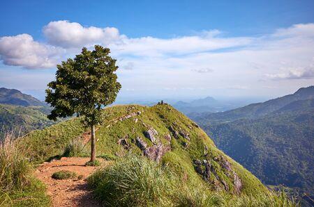 Little Adams Peak on a sunny day, Sri Lanka.
