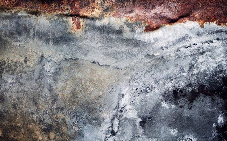 Rusty sheet surface, abstract grunge background or texture. Stock Photo