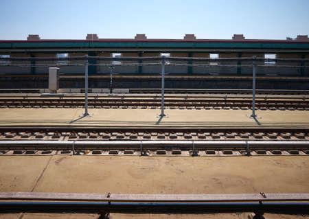 New York City Subway station in Brooklyn Borough, USA. Standard-Bild