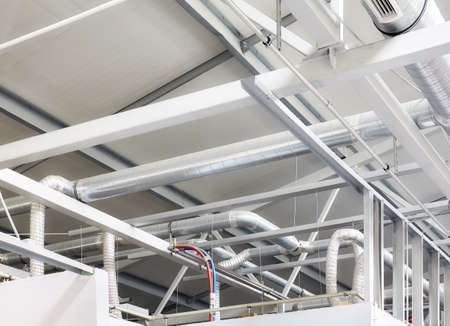 Industrial internal ventilation system in a factory.