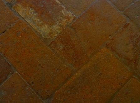 Terracotta tiles on the floor