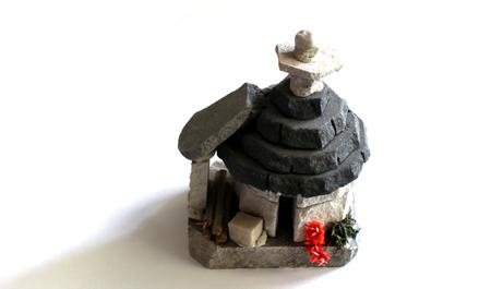 Italian trullo scale model Stockfoto