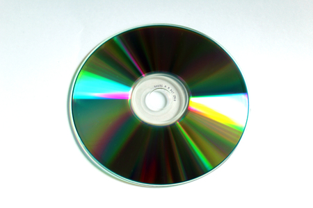 CD compact disc (back side) Stock Photo