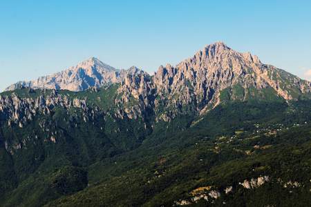 Grigne mountains scenic view in summer