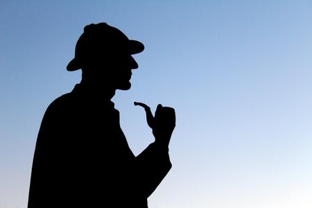 LONDON, UK - AUGUST 2018: Silhouette of Sherlock Holmess statue in London near Baker street