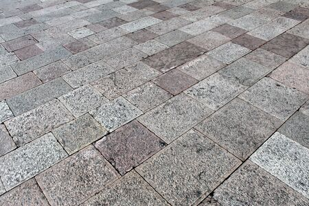 Natural stone floor tiles (squares and rectangles) texture Stock Photo
