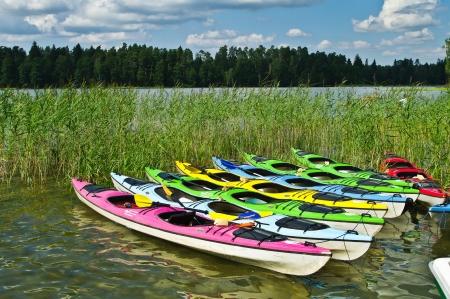 masuria: Canoes at the Masuria