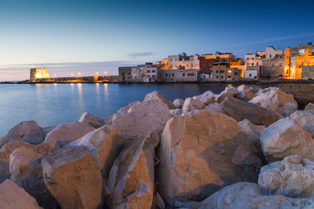 Sunset at Trapani, Sicily, Italy photo