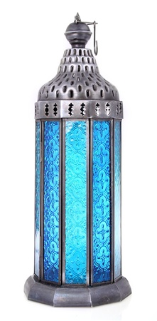 arabic lamp Isolated a White Background  photo
