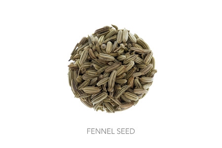 circle shape: Fennel seed in shape of a circle round ball