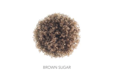 focus stacking: Food circle round brown sugar minimalistic dsign